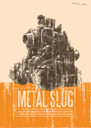 metal slug poster